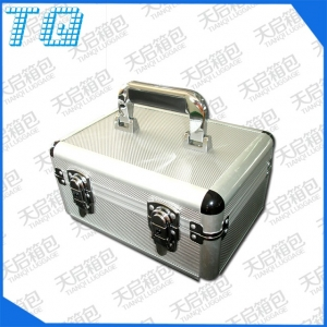 Portable cosmetics aluminum box